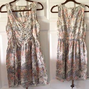 Anthropologie Watercolor Pastel Garden Dress